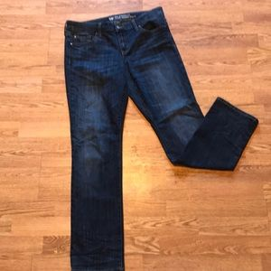 Gap size 10 blue jeans real straight fit 30L long